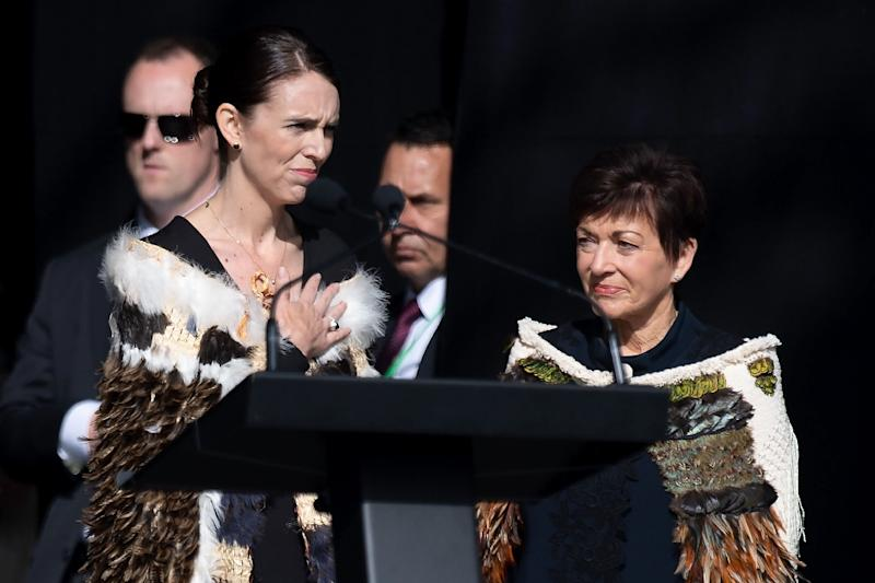 New Zealand Prime Minister Jacinda Ardern was at the memorial service with representatives from nearly 60 countries (AFP Photo/Marty MELVILLE)