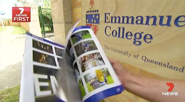 The yearbook contains a string of offensive comments. Source: 7 News