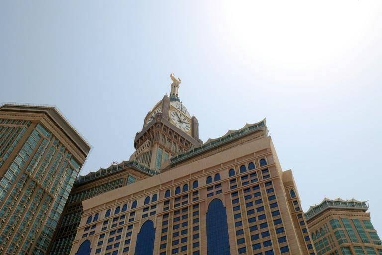 Countdown begins: the Mecca Royal Clock Tower, atop the Abraj al-Bait skyscraper complex in the Muslim holy city of Meccca, pictured on the eve of this year's hajj