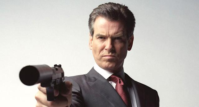 Pierce Brosnan as Ian Fleming's James Bond 007 in a promotional still for 2002's <em>Die Another Day</em>. (EON/MGM)
