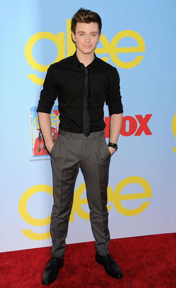 "Chris Colfer arrives at the ""Glee"" Premiere Screening And Reception at Paramount Studios on September 12, 2012 in Hollywood, California."