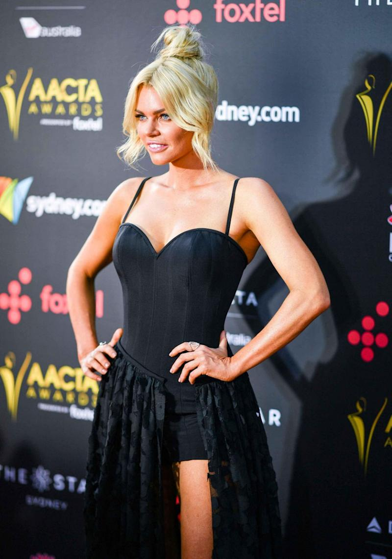 Sophie Monk AACTAs 2017 no stu with her
