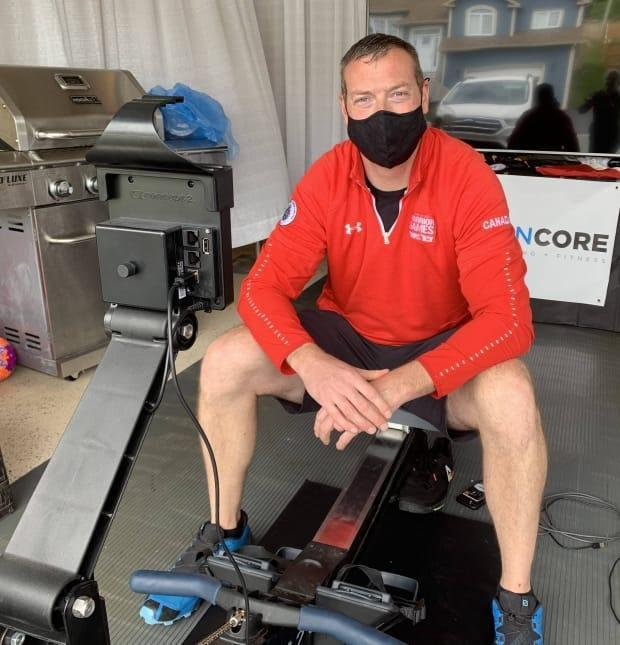 Derek McDonald will row 158 kilometres on Sunday in a fundraiser for Soldier On, an organization that helped him after he was seriously injured while on military service in Afghanistan.  (Heather Barrett/CBC - image credit)
