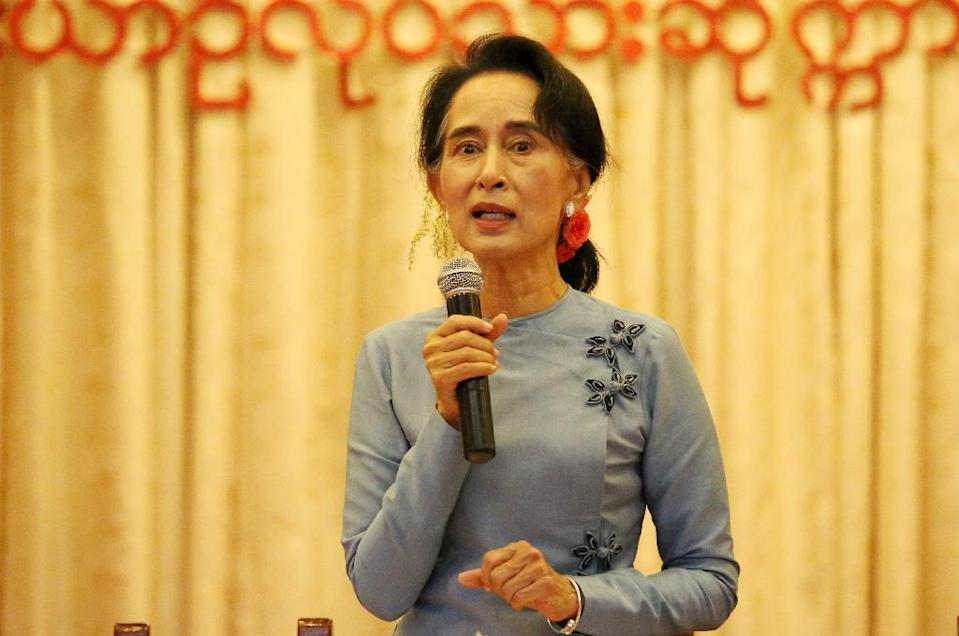 Aung San Suu Kyi and her National League for Democracy (NLD) have offered few policy details, beyond a broad manifesto, in the lengthy transition period since winning last November's elections with a thumping mandate (AFP Photo/STR)