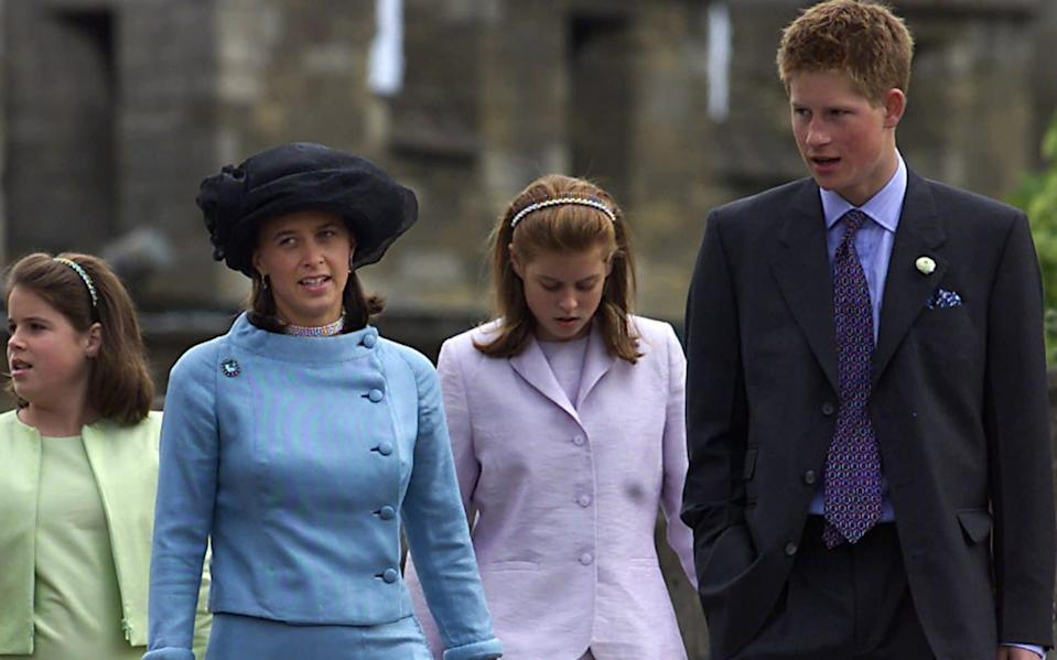 Princess Xenia of Hohenlohe-Langenburg with a young Prince Harry at the Duke's 80th birthday - Michael Crabtree/Reuters