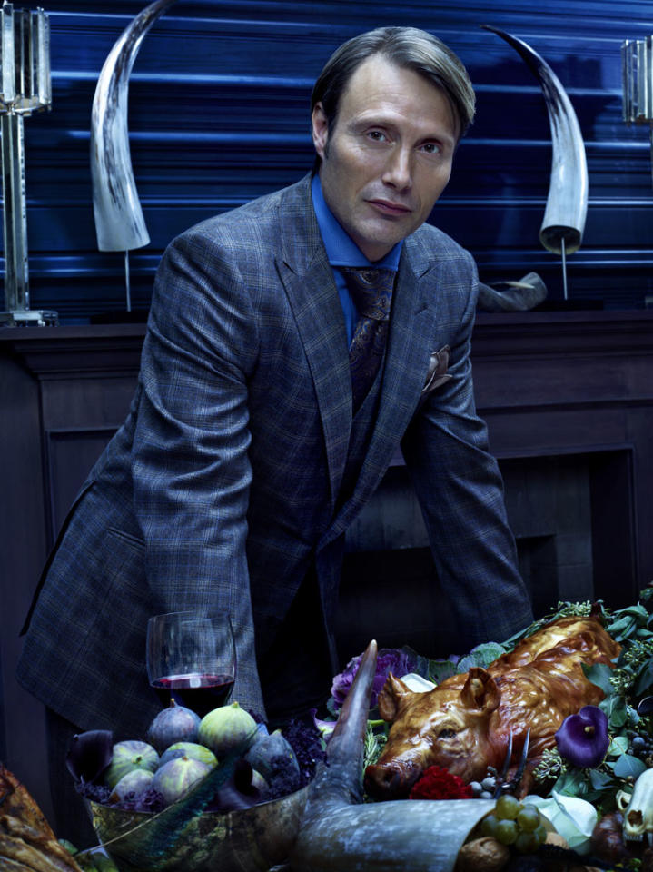 "Mads Mikkelsen as Dr. Hannibal Lecter in ""Hannibal"" on NBC."