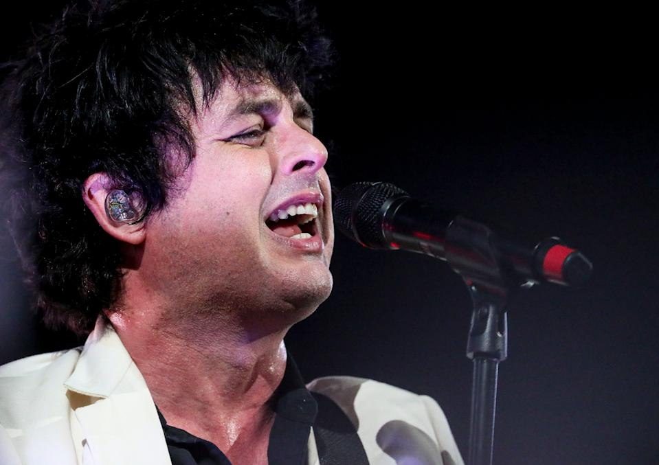 Billy Joe Armstrong, a Green Day member, performs Wednesday, Sept. 1, 2021, at the American Family Insurance Amphitheater.