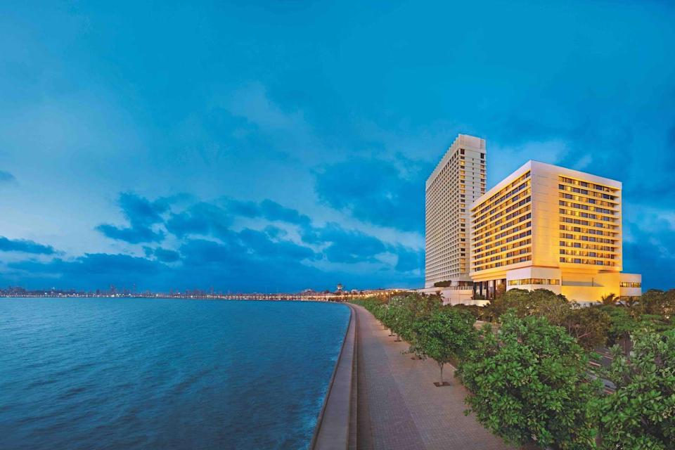 Exterior of The Oberoi, Mumbai, voted one of the best hotels in the world