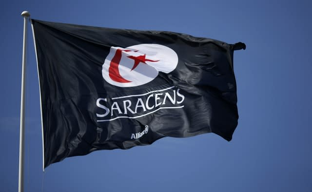 Saracens will be relegated from the Gallagher Premiership at the end of the season (Paul Harding/PA)