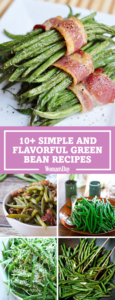 """<p>Save these great green bean recipes for later! Don't forget to <a rel=""""nofollow"""" href=""""https://www.pinterest.com/womansday/"""">follow Woman's Day on Pinterest</a> for more great recipes. <span></span></p>"""