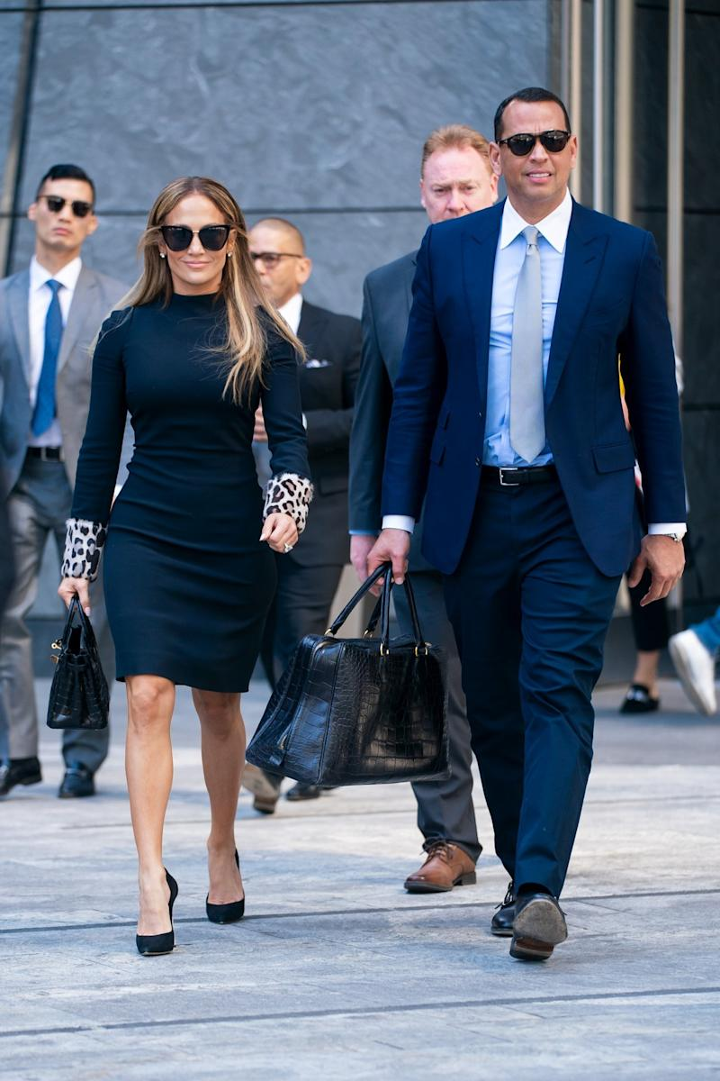 Business: The duo looked picture perfect in their work-ready outfits (Peter Parker / SplashNews.com)