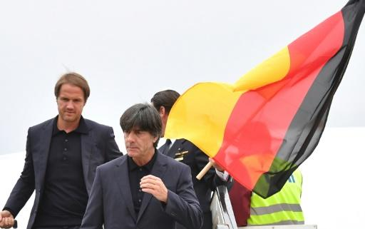 The German team arrive at the World Cup in Russia