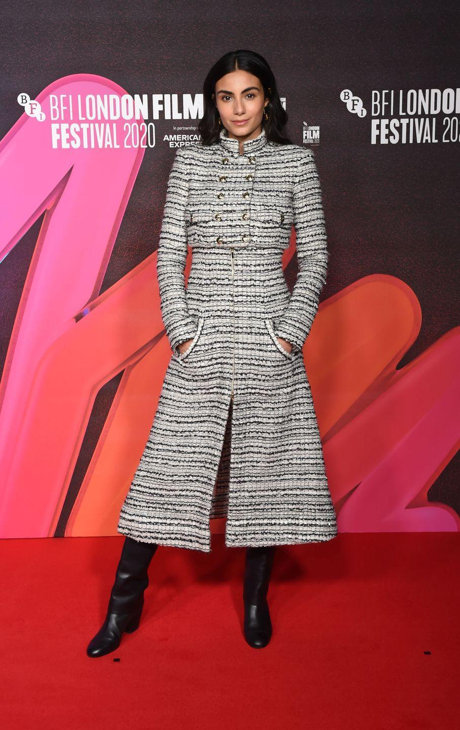 <p><strong>10 October </strong>Aiysha Hart wore a full Chanel look at the Mogul Mowgli premiere during the BFI London Film Festival<strong>. </strong></p>