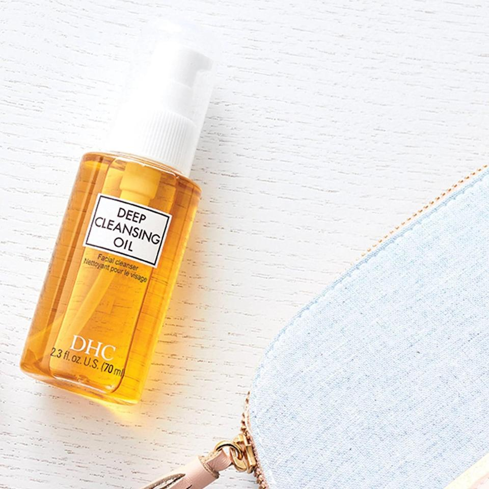 <p>Take the day off with the <span>DHC Deep Cleansing Oil Facial Cleanser</span> ($14). It's a great first cleanser to remove makeup, sunscreen, and the dirt and grime of the day. Just massage it into your skin, emulsify it with water, watch the day melt off your skin.</p>