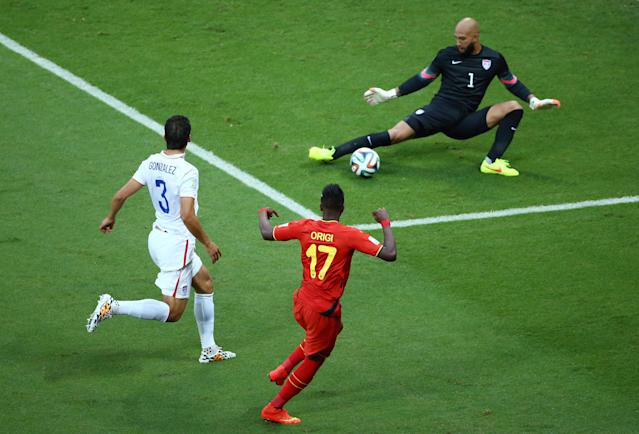 Howard made a World Cup-record 15 saves in the United States' loss to Belgium at Brazil 2014. (Robert Cianflone/Getty)