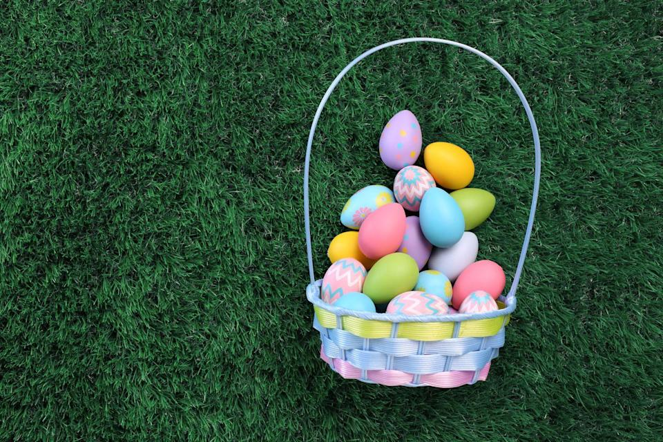 """<p>Like the tradition of the Easter bunny, the tradition of the Easter basket likely began in Germany. Once children began to think the """"Easter Hare"""" would leave goodies, they <a href=""""http://www.dgreetings.com/easter/easter-basket-history.html"""" rel=""""nofollow noopener"""" target=""""_blank"""" data-ylk=""""slk:started creating small nests of leaves and branches"""" class=""""link rapid-noclick-resp"""">started creating small nests of leaves and branches</a> in their gardens where the bunny could place them. </p><p><a href=""""https://www.groovycandies.com/easter-basket-history/"""" rel=""""nofollow noopener"""" target=""""_blank"""" data-ylk=""""slk:Another interpretation"""" class=""""link rapid-noclick-resp"""">Another interpretation</a> says that the Easter basket tradition began much earlier with farmers in Middle Eastern cultures. They would reportedly bring seedlings in a basket to be blessed, in hopes of having a bountiful harvest.</p>"""
