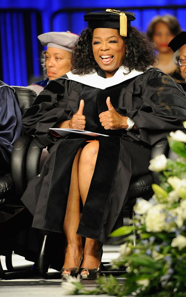 COLLEGE PARK, GA - MAY 20:  COLLEGE PARK, GA - MAY 20, 2012:  Oprah Winfrey attends the Spelman College Commencement at Georgia International Convention Center on May 20, 2012 in College Park Ga.  (Photo by Rick Diamond/Getty Images)