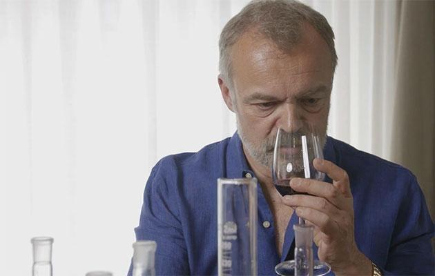 Graham is very hands on with the tasting process. Source: Invivo Wines