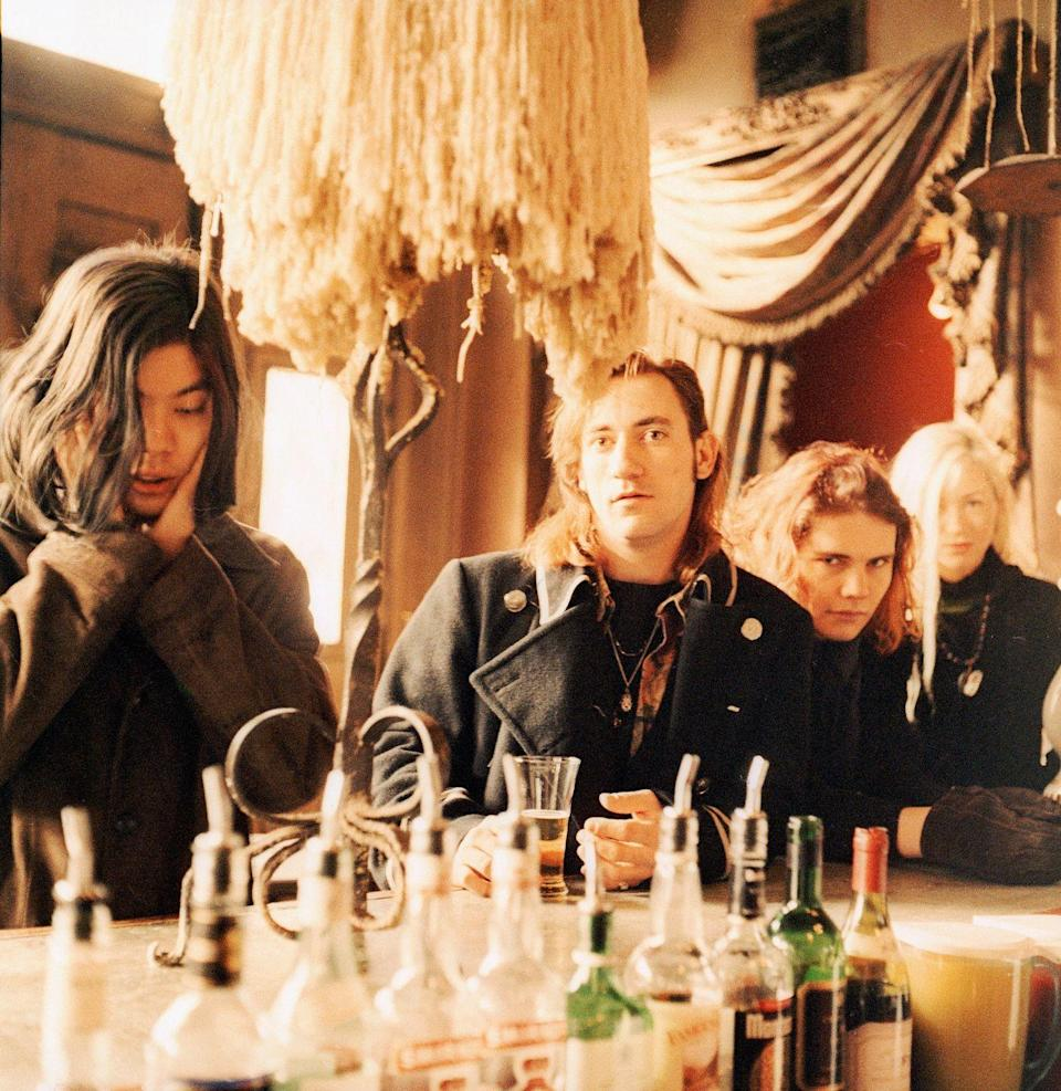 <p>The Smashing Pumpkins, portrait, Notting Hill, London, UK, 1992. Left to right: James Iha, Jimmy Chamberlin, Billy Corgan and D'arcy Wretzky.</p>