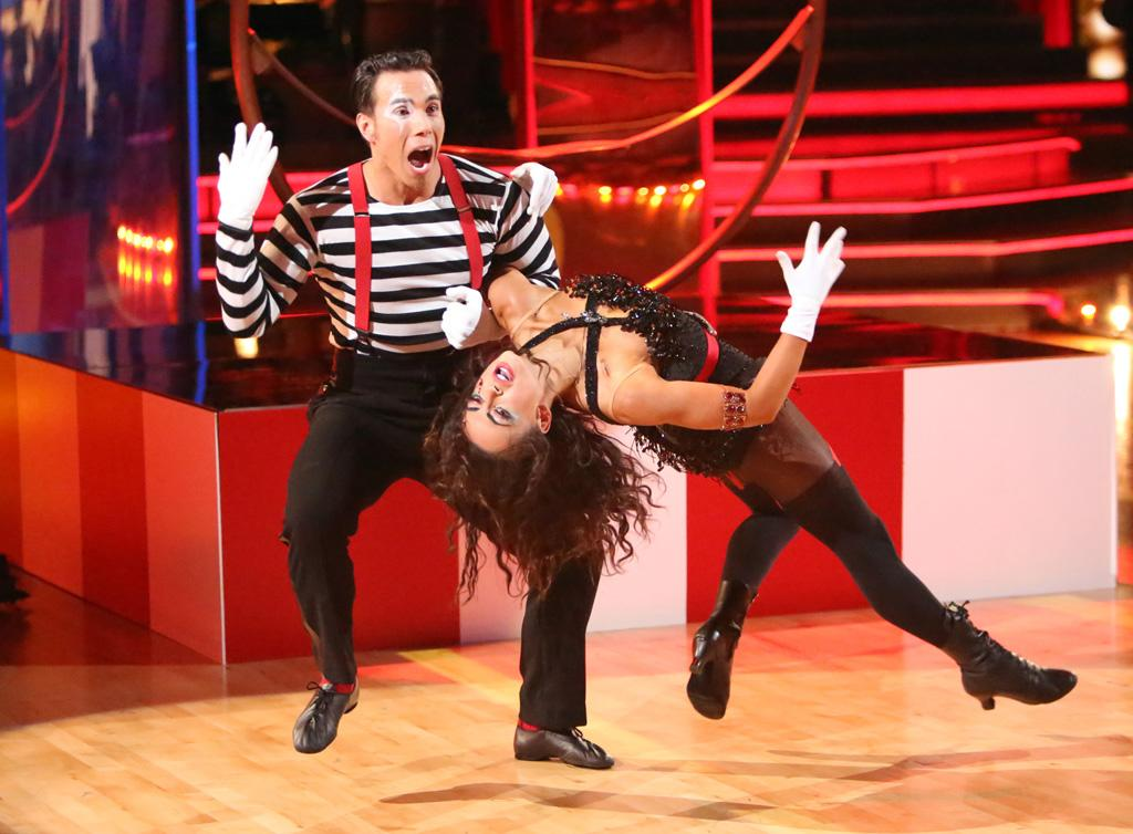 "Apolo Anton Ohno and Karina Smirnoff perform on ""Dancing With the Stars: All-Stars."""