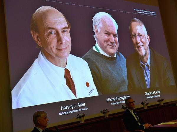 The recipients of Nobel Prize in Medicine 2020 - Harvey J Alter, Charles M Rice and Michael Houghton (ANI)