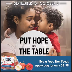 The bags will maintain a sale price of $2.99 throughout the campaign.