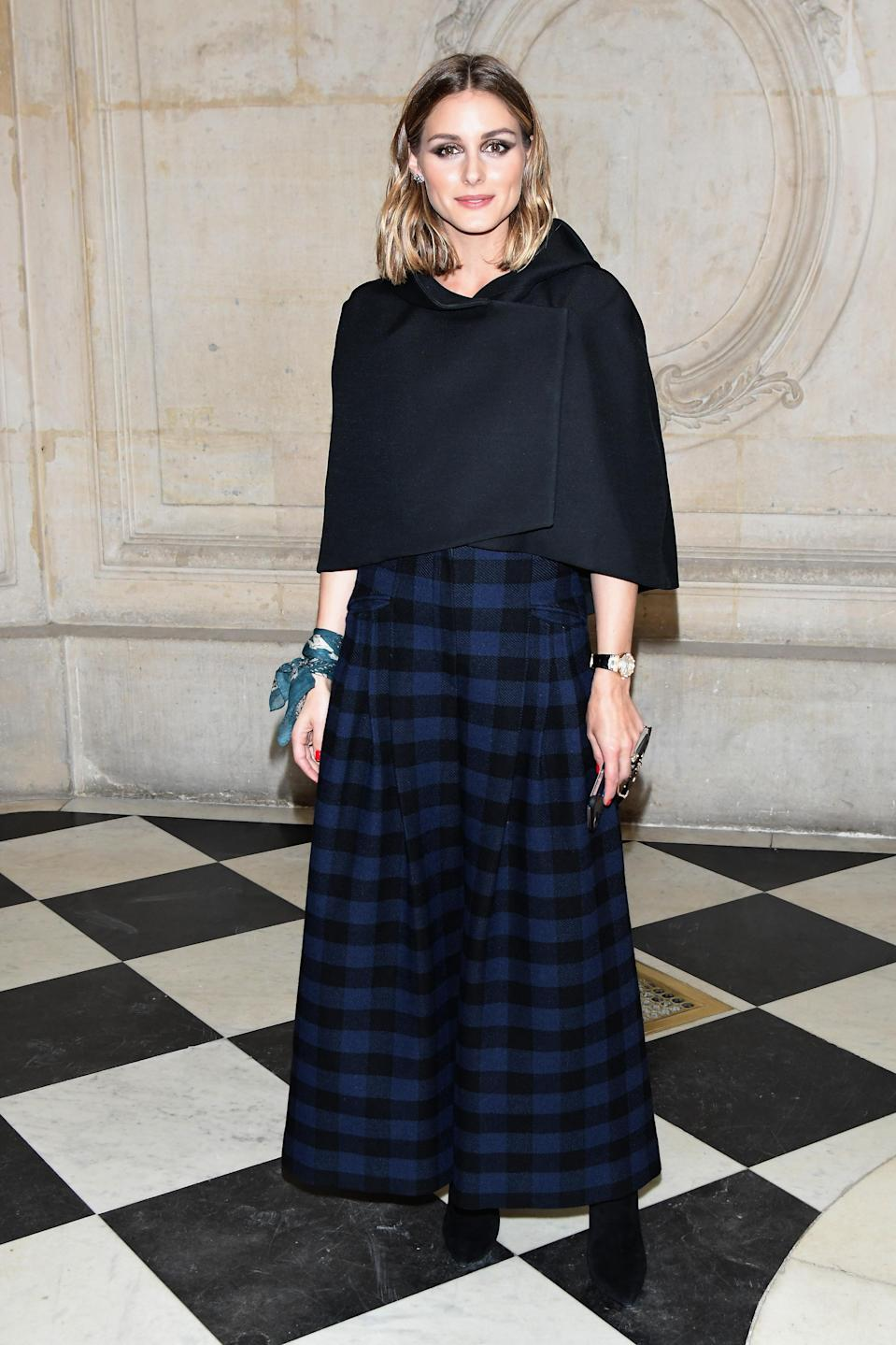 <p>It-girl parmi les it-girls, Olivia Palermo ne pouvait manquer le défilé Dior. (Getty) </p>