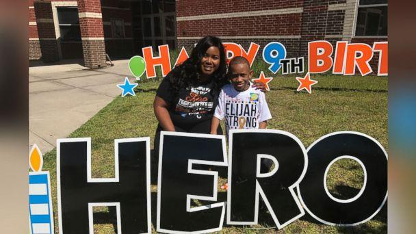 PHOTO: Elijah Lewis, a 9-year-old battling leukemia, was surprised by his 3rd-grade classmates at Victoria Walker Elementary school in Baytown, Texas, May 24 with an unexpected birthday celebration. (Lakesha Lewis)