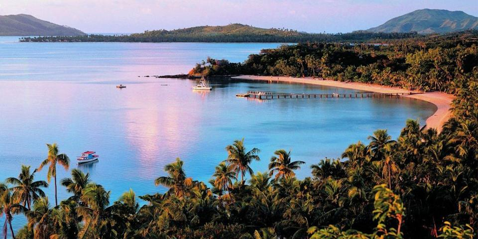 """<p>Fiji, a far-flung archipelago in the South Pacific, is practically synonymous with turquoise tropical beaches. Expect lava cliffs, crystalline lagoons, and mango groves, all of which you can take in from one of the chain's many exclusive <a href=""""https://www.bestproducts.com/fun-things-to-do/g18702137/adults-only-resorts-vacations/"""" rel=""""nofollow noopener"""" target=""""_blank"""" data-ylk=""""slk:adults-only hideaways"""" class=""""link rapid-noclick-resp"""">adults-only hideaways</a>.</p>"""