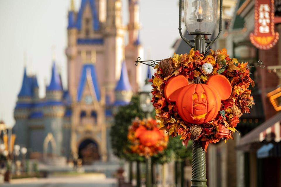 From Sept. 15 to Oct. 31, 2020, guests will experience fall decor on Main Street, U.S.A. in Magic Kingdom Park at Walt Disney World. The fall season will bring special Halloween-themed food and drinks, merchandise and character cavalcades.