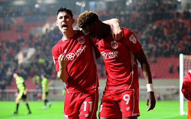 Tammy Abraham was among the goals for Bristol City - Copyright (c) 2017 Rex Features. No use without permission.
