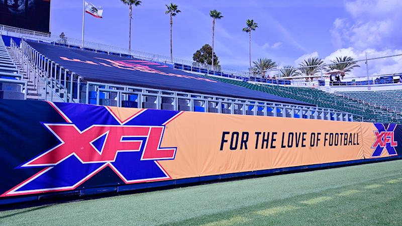 Pictured here, an empty stand at a venue for the XFL.