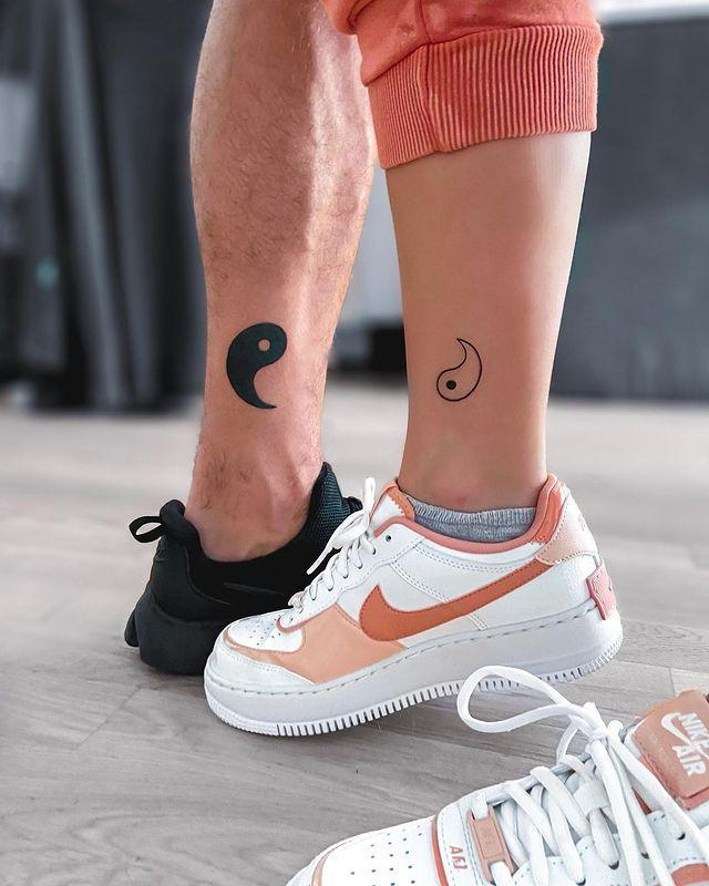 """<p>Are you the yin to your partner's yang? Of course you are, which is why you should definitely consider getting this cute <a href=""""https://www.cosmopolitan.com/style-beauty/beauty/g19632036/best-friend-matching-tattoos/"""" rel=""""nofollow noopener"""" target=""""_blank"""" data-ylk=""""slk:couples tattoo."""" class=""""link rapid-noclick-resp"""">couples tattoo.</a> Like, how good is that ankle placement?</p><p><a href=""""https://www.instagram.com/p/CCglgo1gfOx/?utm_source=ig_embed&utm_campaign=loading"""" rel=""""nofollow noopener"""" target=""""_blank"""" data-ylk=""""slk:See the original post on Instagram"""" class=""""link rapid-noclick-resp"""">See the original post on Instagram</a></p>"""