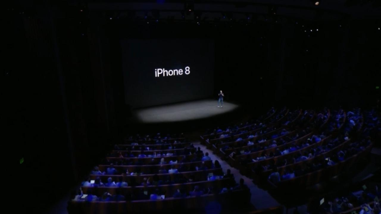 """<p>Apple   <ticker symbol=""""AAPL"""" type=""""EQUITY"""" primary=""""NO"""" /> showed off its newly redesigned iPhone 8 at the Steve Jobs Theater. The phone features a new design that includes glass in the front and back, reinforced by steel, as well as an updated camera and speakers that are 25% louder. Apple touted the phone as one of the first to be designed with augmented reality in mind.</p>  <p>The redesign also enables the phone to be the first-ever iPhone to feature wireless charging.</p>  <p>Much like the iPhone 7 series the 8's Retina HD display measures 4.7"""" while the plus gives you 5.5"""".</p>  <p>The price for the iPhone 8 starts at $699, while the iPhone 8 Plus starts at $799.</p>  <p></p>  <div>  <strong>Follow @TheStreet on Twitter for the Latest on </strong>  <a href=""""https://www.thestreet.com/apple"""" target=""""_blank"""" rel=""""noopener noreferrer""""><strong>Apple's Newest Products</strong></a>   <strong>:</strong> </div>  <ul>   <li><a href=""""http://www.thestreet.com/story/14300908/1/tim-cook-iphone-price.html"""" target=""""_blank"""" rel=""""noopener noreferrer"""">Apple CEO Tim Cook: Our Products 'Aren't for the Rich'</a></li>   <li><a href=""""https://www.thestreet.com/story/14301854/1/apple-highest-price-target-ever.html"""" target=""""_blank"""" rel=""""noopener noreferrer"""">Apple Gets Highest Price Target Ever on Optimism About Augmented Reality</a></li>   <li><a href=""""https://www.thestreet.com/story/14301516/1/here-is-the-one-downside-to-apple-iphone-launch.html"""" target=""""_blank"""" rel=""""noopener noreferrer"""">Here's the One Big Downside to Apple's iPhone Launch; Sorry, Starbucks</a></li>   <li><a href=""""https://www.thestreet.com/story/14301038/1/iphonex-facial-biometrics-could-prevent-hackers-from-accessing-information.html"""" target=""""_blank"""" rel=""""noopener noreferrer"""">Apple iPhone X Facial Biometrics May Stop Hackers From Stealing Your Information</a></li>  </ul>  <p></p>"""