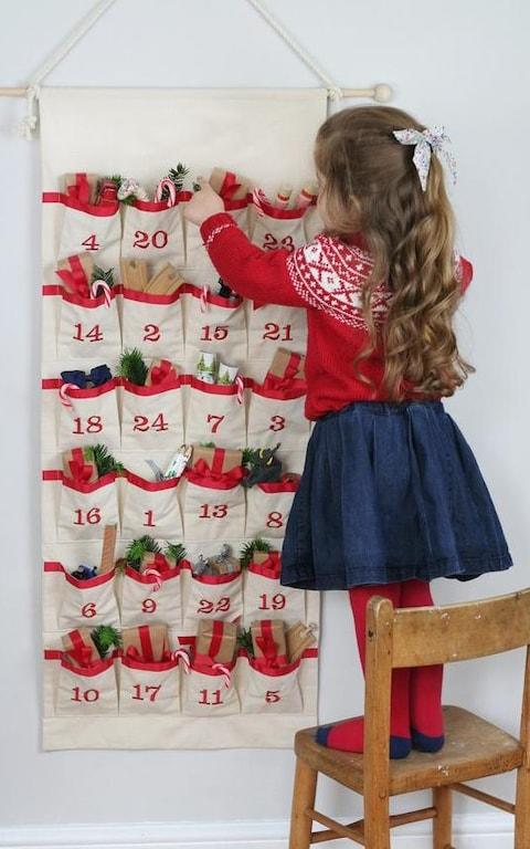 Hide and Seek Textiles Personalised Fabric Advent Calendar from Etsy - Credit: Etsy