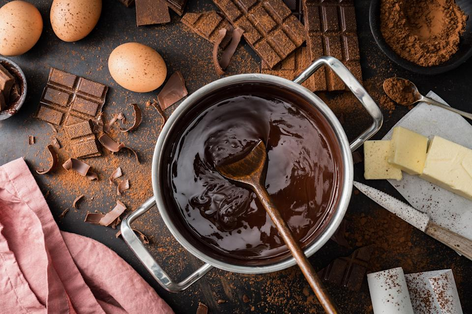 "<h1 class=""title"">Ingredients for cooking chocolate pastry from above</h1><cite class=""credit"">nerudol</cite>"