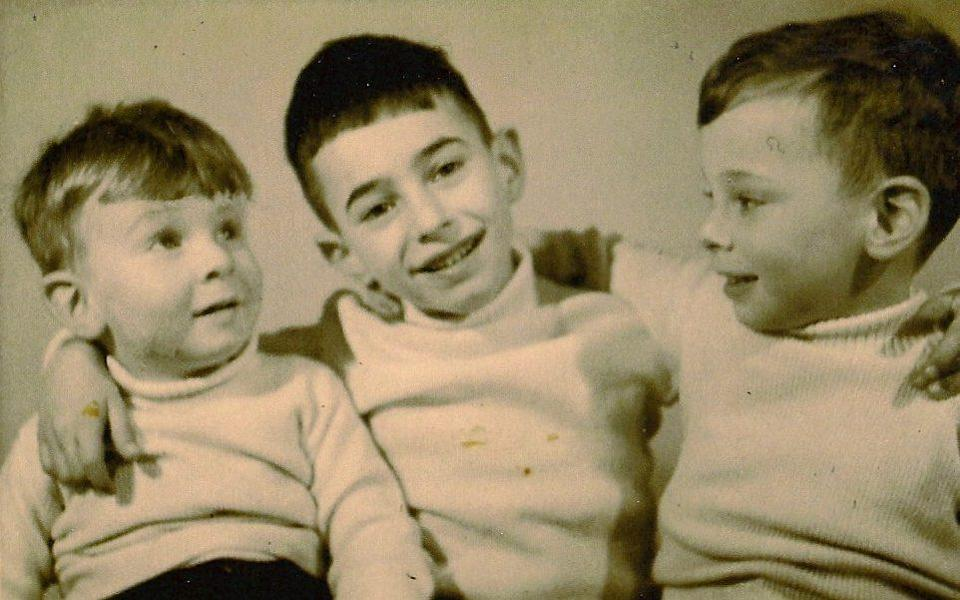 Steven Frank with his two brothers - Steven Frank