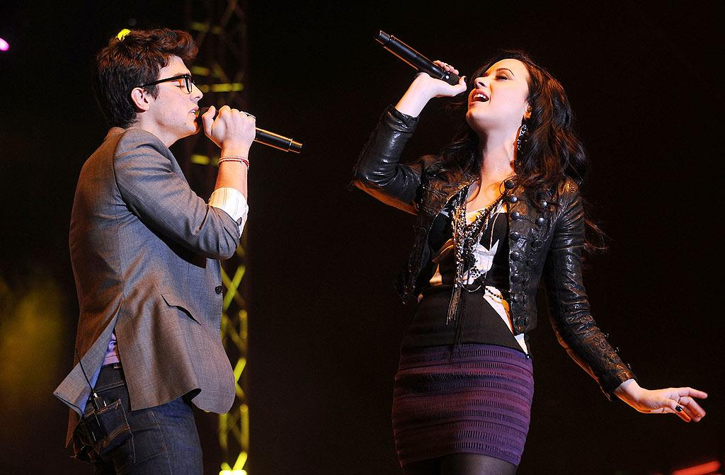 "Although Joe Jonas and Demi Lovato have publicly denied being anything more than friends, the crack staff at the <i>National Enquirer</i> quoted Lovato saying via Twitter, ""I wish everyone would just leave us alone and just let us be together."" Wow, so did Lovato really acknowledge that she and her ""Camp Rock"" co-star are ""together""? Nope. <a href=""http://www.gossipcop.com/national-enquirer-fake-demi-lovato-twitter-joe-jonas/"" target=""new"">Gossip Cop</a> has the full story on how Twitter made the tabloid look like twits. Gustavo Caballero/<a href=""http://www.gettyimages.com/"" target=""new"">GettyImages.com</a> - February 10, 2010"