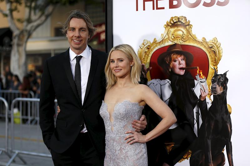 "Dax Shepard and Kristen Bell attend the premiere of ""The Boss"" in Los Angeles on March 28, 2016. (Photo: REUTERS/Mario Anzuoni"