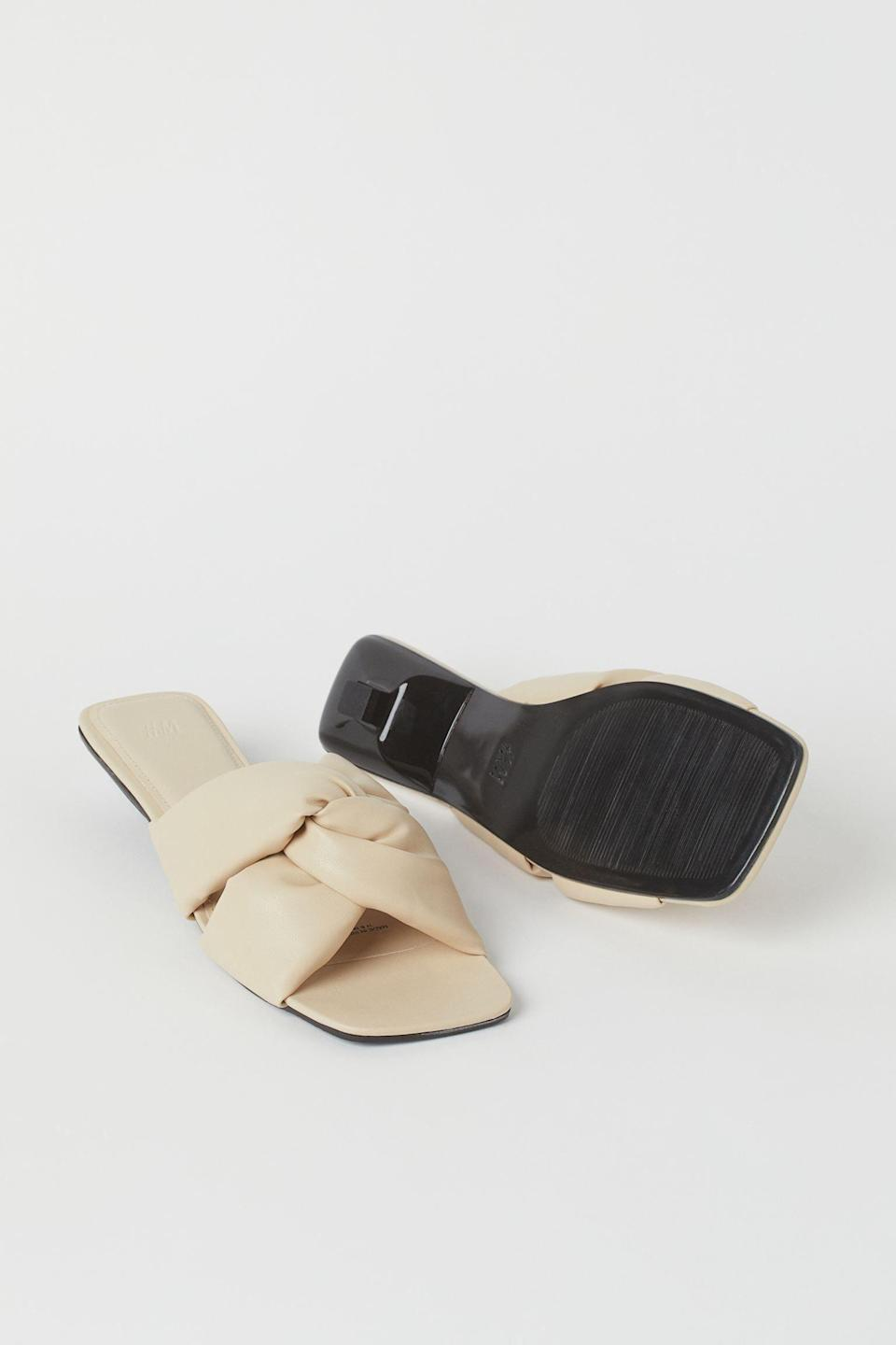 <p>You'll love slipping into these <span>Padded Slip-on Sandals</span> ($30) for a chic office happy hour.</p>