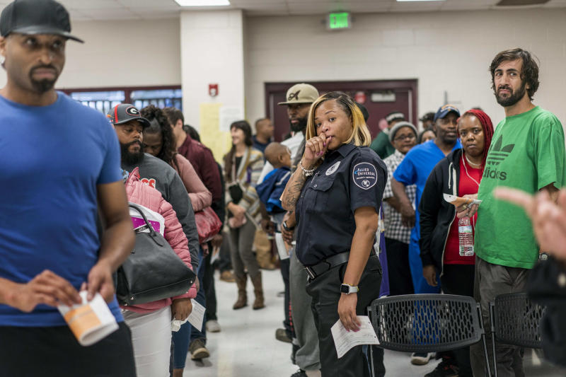 Waits to vote in some Georgia precincts exceeded four hours this year. (The Washington Post via Getty Images)