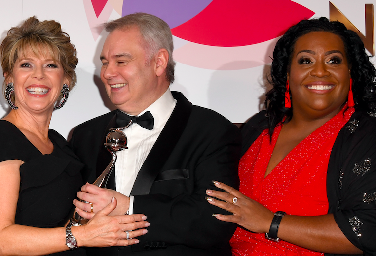 Ruth Langsford, Eamonn Holmes and Alison Hammond with the Daytime award during the National Television Awards held at The O2 Arena on January 22, 2019 in London, England. (Photo by Stuart C. Wilson/Getty Images)
