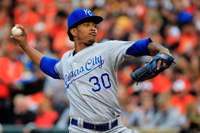 Yordano Ventura's estate could be owed close to $20 million. (Getty Images/Rob Carr)