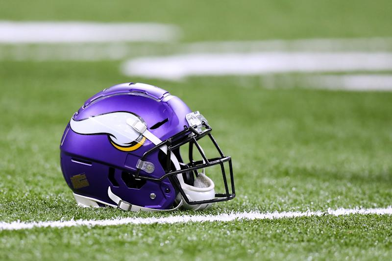 The Vikings organization honored ESPN reporter Vaughn McClure, who died this week. (Jonathan Bachman/Getty Images)