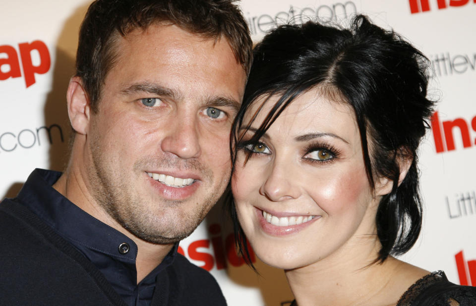 MANCHESTER, ENGLAND - JULY 14:  Jamie Lomas and Kym Marsh attend the launch party of The 2008 Inside Soap Awards at Great John Street Hotel on July 14, 2008 in Manchester, England.  (Photo by Eamonn McCormack/WireImage)