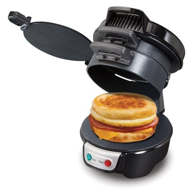 <p>If he's a foodie, the <span>Hamilton Beach Breakfast Sandwich Maker, Black, Model 25621</span> ($20) might just change his life. </p>
