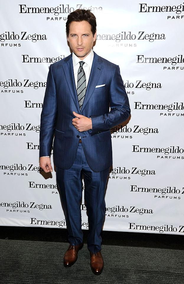 "NEW YORK, NY - DECEMBER 03:  Actor Peter Facinelli attends Ermenegildo Zegna ""Essenze"" Collection Launch Event at The Ermenegildo Zegna Boutique on December 3, 2012 in New York City.  (Photo by Ilya S. Savenok/Getty Images)"