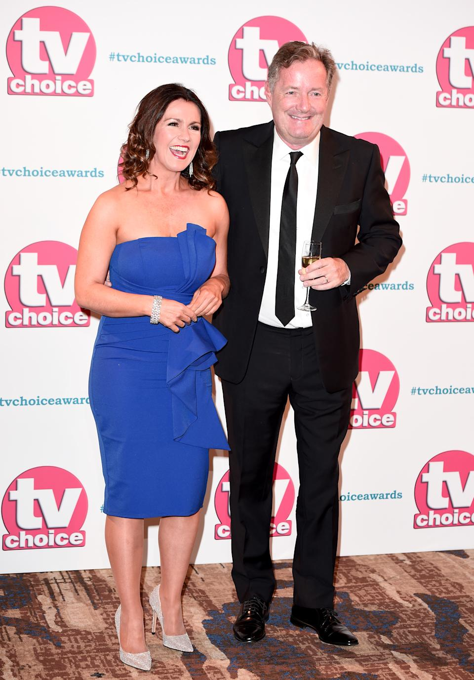 Susanna Reid and Piers Morgan attend The TV Choice Awards 2019 at Hilton Park Lane on September 09, 2019 in London, England. (Photo by Eamonn M. McCormack/Getty Images)