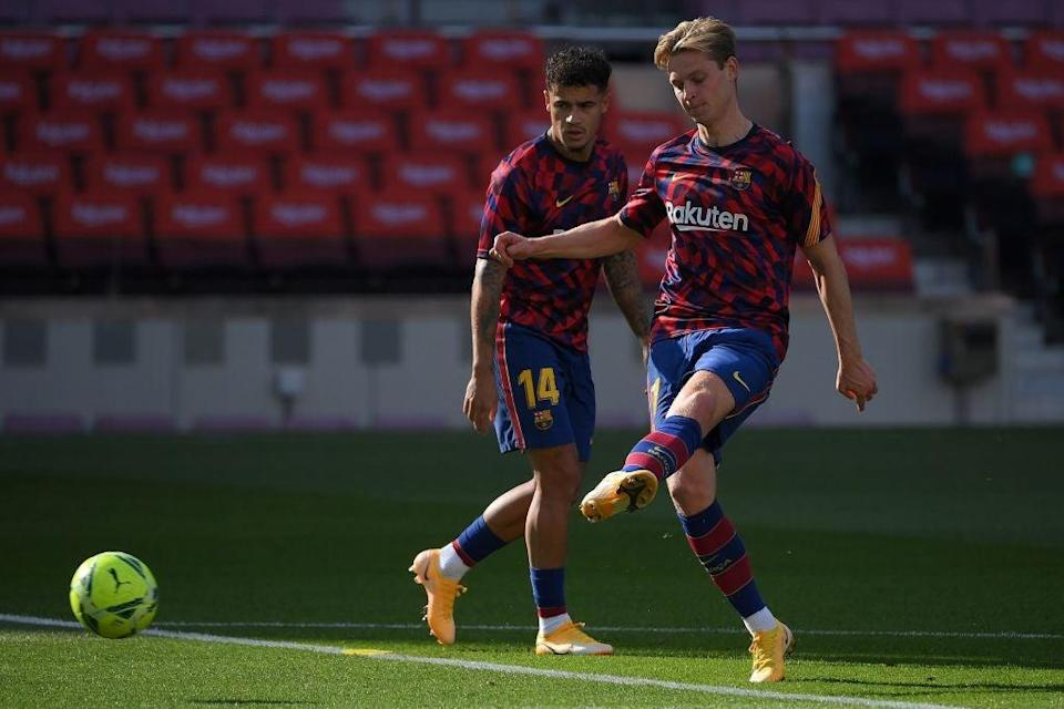 Frenkie de Jong for Barcelona (AFP via Getty Images)