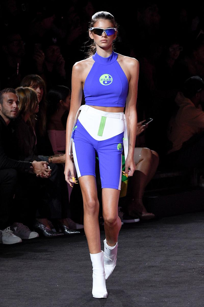 Kaia Gerber walks the runway at the Fenty Puma By Rihanna fashion show during New York fashion week at Park Avenue Armory on September 10, 2017 in New York City. (Photo by Peter White/Getty Images)